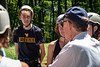 President Gee chats to incoming WVU students at an Adventure WV camp on Monday, July 15, 2019.