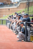 Randy Mazey sits at the edge of the dugout during the team's third game of the NCAA Regional on June 2, 2019 at Monongalia County Ballpark. Photo Parker Sheppard