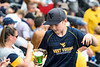 A young WVU fan makes his way through the crowd during WVU's third game of the NCAA Regional on June 2, 2019 at Monongalia County Ballpark. Photo Parker Sheppard
