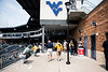 Fans enter the park fo WVU's third game of the NCAA Regional on June 2, 2019 at Monongalia County Ballpark. Photo Parker Sheppard