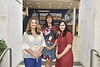 Coutney Koren, Leanne Fansler and Dr. Larissa Casaburi of the Quality Assurance team in Radiology pose for photographs at the Pylons in the Health Sciences Center June 25th, 2019.  Photo Brian Persinger