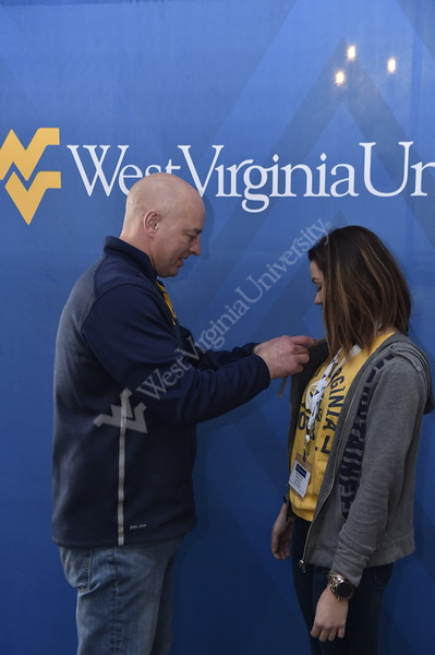 Potential future students of WVU visit the University on Decide Day, on March 23, 2019, to learn more and explore campus. In E. Moore Hall, Lagacy Students recieved their pins and others learned about the benefits of WVU's Honors College.