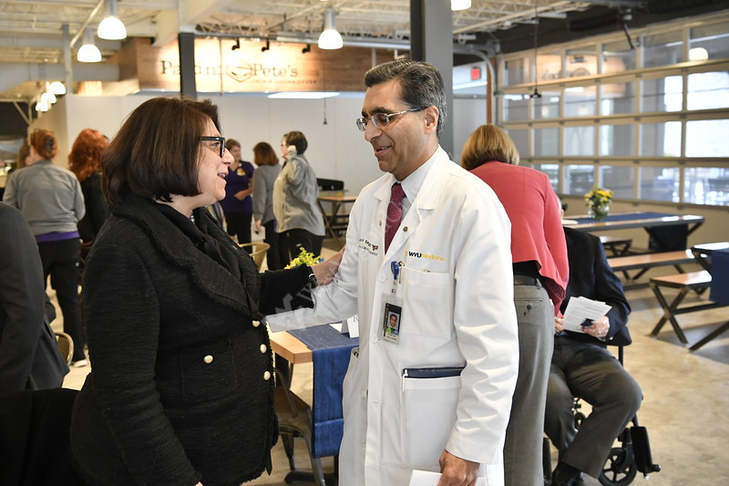 WVU, WVU  Medicine and HSC leadership participate in the Mead Chair Investiture of  Dr. Osvaldo Navia at the HSC market place March 8, 2019. Photo Greg Ellis