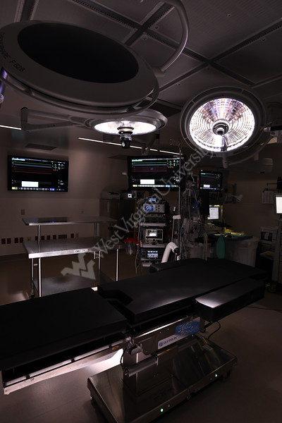 WVU School of Medicine students now have the opportunity to perform  Perfused Cadaver Training, a new, innovative training model at the West Virginia University School of Medicine that mimics real-world surgery for surgical residents and trainees. March 20, 2019. Photo Greg Ellis