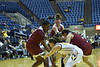 WVU Girls Basketball VS Rider Broncs at the Coliseum. The Mountaineers won the game with a score of 83-43.
