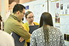 WVU School of Medicine students engage judges and their peers at a  poster session specific to their school of study in the HSC common space March 22, 2019. Photo Greg Ellis