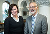 Elizabeth Oppe, teaching associate professor of public relations and Charles Moore, medical director of the WVU Eye Institute Pose for a Heebink Award portrait at Stewart Hall March 22, 2019. Photo Greg Ellis.