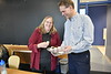 35429 Dr. Cheryl McNeill Research Award Winner 2019 is awarded a compass and cupcakes in her class as students look on at the LSB March 25, 2019. Photo Greg Ellis