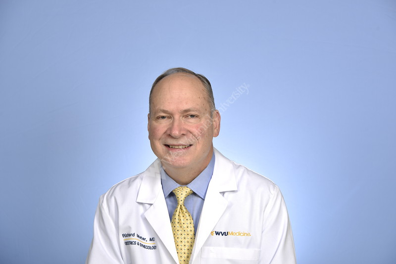 Rick Meter, MD OGBYN WVU School Of Medicine poses for a portrait at the HSC studio March 26, 2019. Photo Greg Ellis