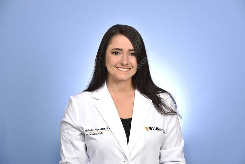 Natalie Kovatch, PA-C WVU Medicine department of SOM Otolaryngology poses for a portrait at the SHC studio  March 26, 2019. Photo Greg Ellis