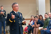 The Adjutant General - WV, MAJ.GEN. James Hoyer addresses WVU May ROTC Graduates their families and friends at their commissioning ceremony May 9, 2019. Photo Greg Ellis