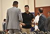 WVU International students gather with family and friends for the International Student Graduation Reception at the Erickson Alumni Center, May 9, 2019. Photo Greg Ellis
