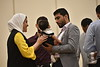 WVU International students gather with family and friends for the International Student Graduation Reception at the Erickson Alumni Center, May 9, 2019. Photo Greg Ellis