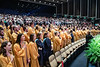 Honors College graduates sing the national anthem during the Honors College Medallion Ceremony at the CAC April 9th, 2019.  Photo Brian Persinger