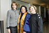 WVU Provost Joyce McConnell poses for a photo with (L) Irene Kelley Federal Judge and WVU Blaney House visiting comminute member Pat Bibbee at the CAC May Commencement May 10, 2019. Photo Greg Ellis