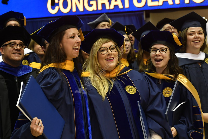 Eberly May Graduate Students, families and friends attend Commencement at the WVU Coliseum May 12, 2019. Photo Greg Ellis