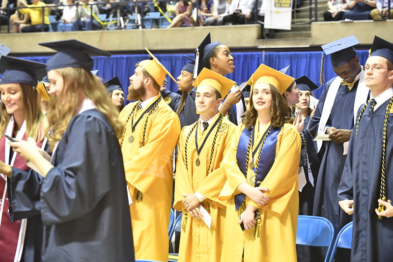 The Eberly College of Arts and Sciences holds their Undergraduate Commencement at the Coliseum, May 12th, 2019.  Photo Brian Persinger