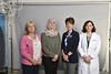 Michelle Kapp, Mayada Issa, MD, Cathy Shaw and Laura Davisson, MD pose for group photographs in the Health Sciences Center Photography Studio May 30th, 2019.  Photo Brian Persinger