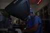 Dr Brian Boon, MD performs Robotic Hepatic Artery Pump Surgery using Da Vinci robotic assistance May 31, 2019. Photo Greg Ellis