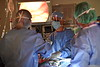 Dr Brian Boon, MD performs Robotic Hepatic Artery Pump Surgery using Da Vinci robotic assistance May 31, 2019. Photo Greg Ellis