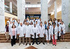Members of the Neurology Department pose for their Annual photo at the HSC Pylons May 31, 2019. Photo Greg Ellis