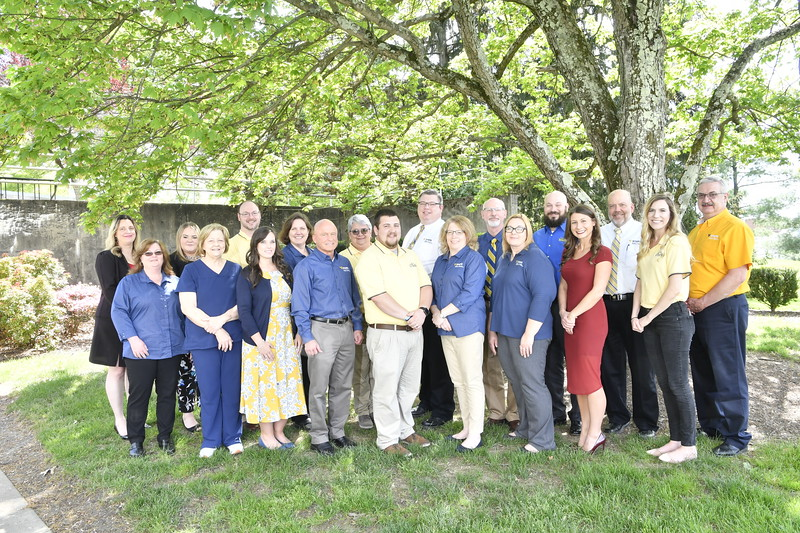 Members of the WVU STEPS department pose for portraits and a group picture May 2, 2019. Photo Greg Ellis