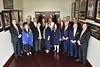 WVU President E.Gordon Gee and membere of the WVU BOG pose for a group photo at the Erickson Alumni Center November 8, 2019. (WVU Photo/Greg Ellis)