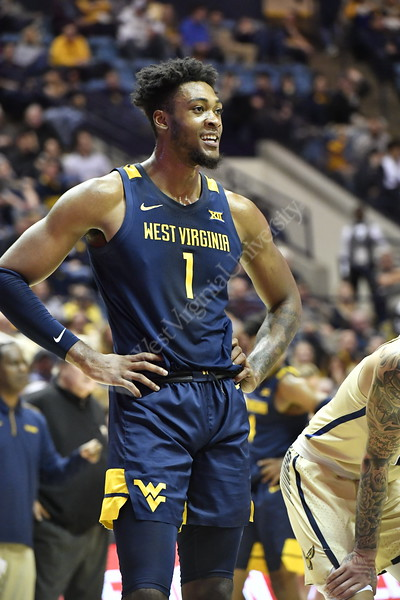 WVU vs Akron Basketball game action November 8, 2019. (WVU Photo/Greg Ellis)