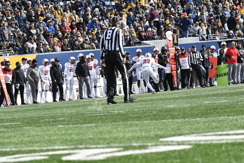 WVu Texas Tech Football action November 9, 2019. (WVU Photo/Greg Ellis)