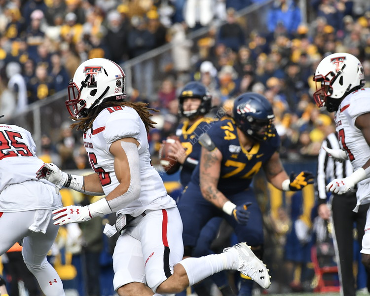 WVu Texas Tech Football action November 9, 2019. (WVU Photo/Greg Ellis)