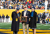 Robert and Dorthea McMillan recieve the Most Loyal West Virginians award. Most Loyal West Virginians award was given out during half time of the WVU vs Texas Tech game on November 9, 2019. (WVU Photo/Parker Sheppard)