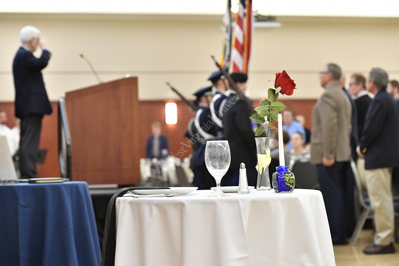 WVU Veterans, active duty military and the WVU community come together to celebrate Veterans Day 2019 at the WVU Veterans Appreciation Breakfast November 11, 2019. (WVU Photo/Greg Ellis)