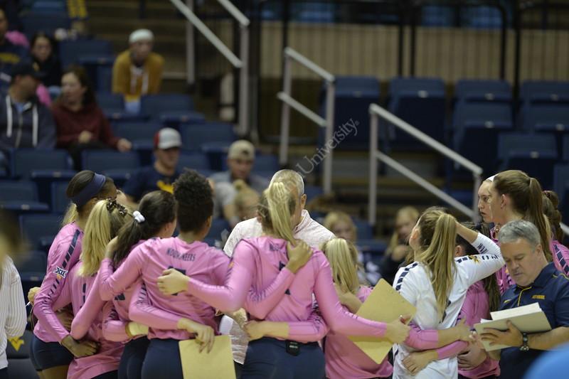 WVU Volleyball took on Texas Tech in the Coliseum November 16, 2019. (WVU Photo/Parker Sheppard)