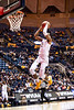 Taz Sherman jumps for a dunk. The WVU Men's Basketball team took on Northern Colorado at the Coliseum November 18, 2019. (WVU Photo/Parker Sheppard)