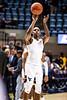 Brandon Knapper shoots a shot during warm ups. The WVU Men's Basketball team took on Northern Colorado at the Coliseum November 18, 2019. (WVU Photo/Parker Sheppard)