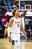 Emmitt Matthews Jr. walking down the court. The WVU Men's Basketball team took on Northern Colorado at the Coliseum November 18, 2019. (WVU Photo/Parker Sheppard)