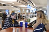 Staff and Students are photographed at the Evansdale Cafe in the Towers Residential Complex November 19th, 2019.  (WVU Photo/Brian Persinger)