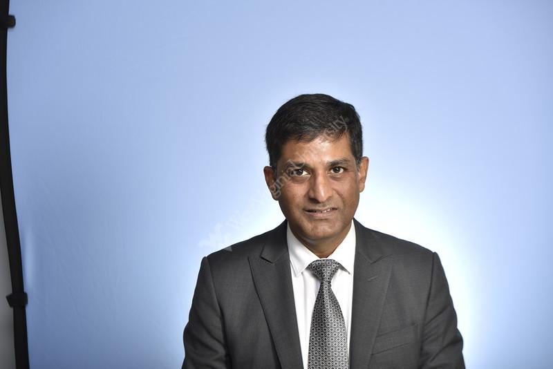 Dr. Ramesh Daggubati WVU Medicine poses for a portrait at the HSC studio November 21, 2019. (WVU Photo/Greg Ellis)