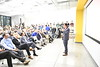 WVU John Chambers College of Business and Economics students, faculty and the WV community listen to a presentation from Virgin Hyperloop One at the Vantage Ventures Tech Talk November 21, 2019. (WVU Photo/Greg Ellis)