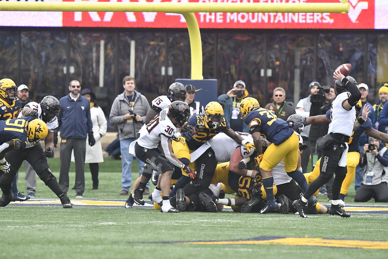 The WVU Mountaineer Football team hosts Oklahoma State at Mountaineer Field November 23rd, 2019.  (WVU Photo/Brian Persinger)