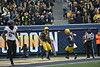 The Mountaineer Football team faced off against OSU at Mountaineer Field November 24, 2019. (WVU Photo/Parker Sheppard)