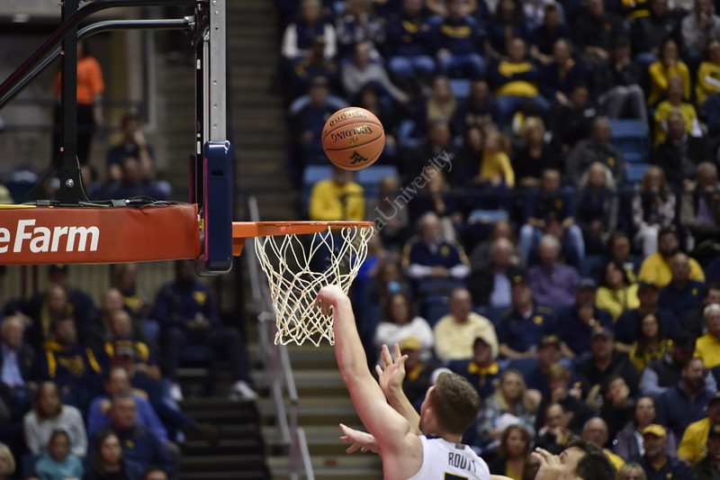 The WVU Men's Basketball team took on Boston University at the Coliseum November 22, 2019. (WVU Photo/Parker Sheppard)