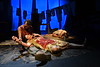 """WVU School of Theatre & Dance students performe scenes from """"MUD"""" at a photo call October 2, 2019. (WVU Photo/Greg Ellis)"""