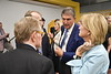 WVU and WV leadership along with state and regional business leaders and developers  meet at the  WVU Vantage Ventures the entrepreneurial development center of the WVU John Chambers College of Business and Economics,  October 4, 2019. (WVU Photo/Greg Ellis)