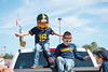 Two young WVU fans dance at a tailgate on gameday. WVU Football faced off against Texas at Mountaineer Field October 5, 2019. (WVU Photo/Parker Sheppard)