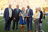 M. Annette Fetty Santilli recieves an award during the Homecoming Alumni Awards given out at half time during the WVU Football game against Texas on October 5, 2019. (WVU Photo/Parker Sheppard)