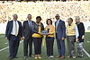 The Homecoming Alumni Awards given out at half time during the WVU Football game against Texas on October 5, 2019. (WVU Photo/Parker Sheppard)