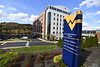 The exterior of One Waterfront Place October 29th, 2019.  (WVU Photo/Brian Persinger)