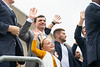 Neal Brown and daughter wave before the game. The Mountaineer Football Team hosted Iowa State on October 12, 2019 at Mountaineer Field. (WVU Photo/Parker Sheppard)