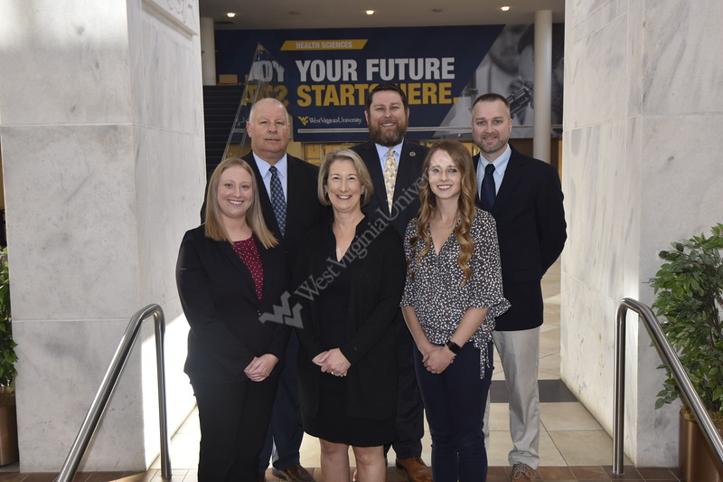 Faculty from the Human Performance Lab pose for photographs in the Health Sciences Studio October 29th, 2019.  (WVU Photo/Brian Persinger)